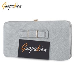 Wholesale Ms Styles - Ms. Long Cute Butterfly Student Large capacity Mobile Lunch Box Ticket wallet Grey