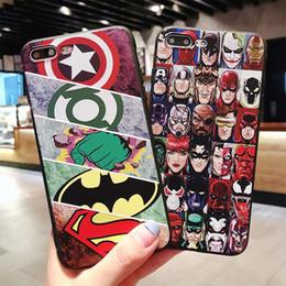 2019 housse de l'iphone batman Batman Captain America Marvel DC Cas de téléphone de concepteur de super-héros mince TPU cas de téléphone pour iPhone XS MAX XR 6 7 8 S PLUS X Housse de protection promotion housse de l'iphone batman