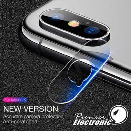 Objectifs de caméra de film en Ligne-Pour iphone XR XS MAX X lentille en verre trempé 2.5D Film Caméra Objectif Protecteur D'écran Couverture Arrière En Verre Avec Paquet Au Détail