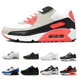 new product 402a9 df0e6 90 Laufschuhe Männer Frauen Schwarz Rot Weiß Trainer Luftpolster Oberfläche  Atmungsaktive Sport Sneaker Schuhe Größe 36-46 preiswerte rote oberfläche