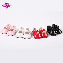 Wholesale Zapf Dolls - High Quality 7cm doll shoes for dolls 4colors Mini Toy Doll Shoes 1 6 For Zapf Baby Born American girl Accessories