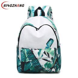 8fafb1853923 beautiful backpacks women 2019 - fashion printing women backpack beautiful  leaves big school bags for girls