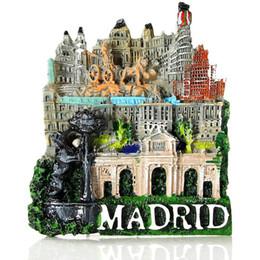 Spain Travel Souvenir Scenery Madrid 3D High-end Resina Imanes de Nevera Refrigerador de Regalo Etiqueta Engomada Magnética Decoración Del Hogar desde fabricantes
