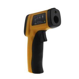 Pistola de termómetro digital online-Sin contacto Termómetro infrarrojo Digital Medidor de temperatura de mano IR Laser Temperatura Pistola Pirómetro con luz de fondo
