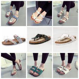 sandales usb Promotion Summer Cork Sandles Pantoufles Antidérapantes De Plage 19 Styles En Cuir Pantoufle De Loisir Décontracté Cool Flip Flops Confortable Chaussures OOA5203