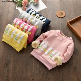 Wholesale Girls Clearance - Clearance Sale Children Winter Outerwear Baby Boys Girls Cartoon Bunny Tops Kids Thick Fleece Clothing Hot Sale