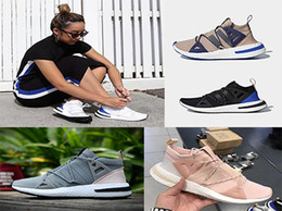 Wholesale pearl tassels - 2018 Last High quality Arrival Arkyn Boost Ash Pearl Primeknit TPU White Black Brown Deep blue Running Shoes For Women Men Designer