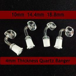sporgenza al quarzo Sconti 4 millimetri spessore quarzo Banger Domeless Nails miele secchiello 10mm 14mm 18mm maschio femmina termica Banger 90/45 gradi per vetro Bong Dab Rigs