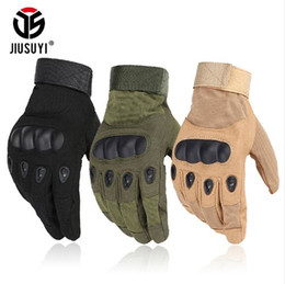 Wholesale Glove Paintball - Tactical Army Military Hard Knuckle Full Finger Gloves Airsoft Paintball Shooting Combat Work Fingerless Half Finger Gloves