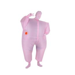Disfraces de cuerpo completo para adultos. online-Traje de mono inflable Divertido Tamaño Adulto Inflable Traje de Cuerpo Completo Traje Blow Up Disfraces Fiesta de Deportes de Halloween Grasa