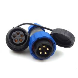 Водонепроницаемый соединительный кабель онлайн-SD20 5pin водонепроницаемый разъем кабеля питания, 25A 250V высоковольтные электронные разъемы авиации, напольное гнездо штепсельной вилки разъема Сид IP68