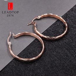 Wholesale Rose Swing - whole saleLarge Rose Gold Hoop Earrings In Stainless Steel,Thin Rose Gold Hoop Earrings For Women,Swinging Dainty