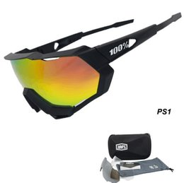 Wholesale Plastic Men - 2018 New Brand 100 % speedcraft speedtrap Men Women Bicycle Sunglasses Gafas ciclismo Cycling Glasses UV400 Bike Eyewear 3 lens