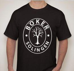 facas de boker Desconto Boker Solingen Alemão Dagger Tee Faca Fabricante De Espada Marca T-shirt Da Marca de Algodão Homens Roupas Masculinas Slim Fit T Shirt Estilo Preto