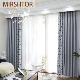 Ventana gris online-MIRSHTOR 85% sombreado cortina de oscurecimiento para la sala de estar o la ventana del dormitorio color gris