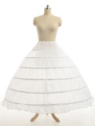 Súper Barato Vestido de fiesta 6 aros Enagua Enagua de crinolina Bajo la falda de novia Layes Slip 6 Aro falda de crinolina para vestido de quinceañera desde fabricantes