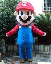 Wholesale Mario Customs - 2018 High quality hot Custom made super mario bros mascot costume Free shipping