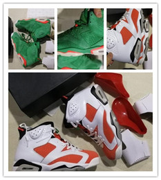 Wholesale increasing muscle size - Discount cheap 6s Basketball Shoes Be Like Mike White Green VI Pine Green Gatorade 6 Suede sports sneakers size 41-47