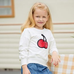 767c8b958905 Wholesale- Girls Hoodies & Sweatshirt autumn round neck long sleeve children  sweater cute color apple embroidery girls wear free shipping