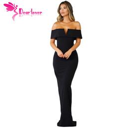 Dear Lover long dress 2018 women summer Gowns Black Social Event Red Carpet  Off-shoulder Maxi Party Dress vestidos longo LC61876 fc9bee8b2765
