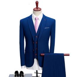 Discount mens vest lapels - Men Suits for Wedding Party Suit Slim Fit for Men Notch Lapel 3 Pieces Mens Suits (Jacket+Vest+Pants)