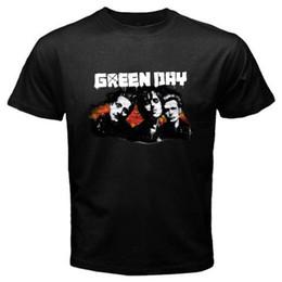 Nouveau T-shirt Homme Noir GREEN DAY Punk Rock Band Personels Noir Taille S T ? partir de fabricateur