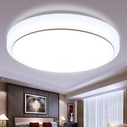 2019 luces de techo de ahorro de energía de dormitorio 9W ~ 24W LED luces de techo 85 ~ 265v luces LED de techo redondas Ahorro de energía Luz de techo dormitorio sala de estar Iluminación del vestíbulo Luz blanca luces de techo de ahorro de energía de dormitorio baratos