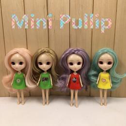 Wholesale Nude Dolls - Pullip mini blyth doll 10CM DIY nude doll 10cm lovely cute long hair