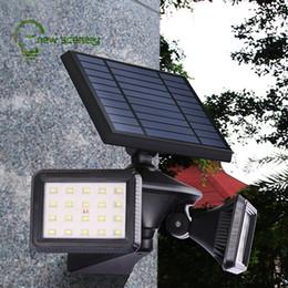 Las luces llevadas accionadas solares 40leds por la calle solar al aire libre del movimiento de PIR llevaron la luz para el jardín decorativo desde fabricantes
