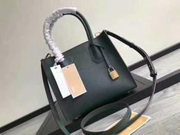Wholesale nwt fashion - NWT 2018 Michael Kally Large Mercer Cross grain calfskin Genuine Leather Handbags With Lock Women Tote Shoulder Bags