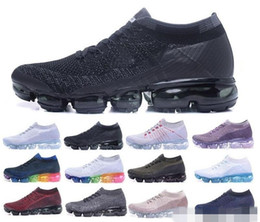 Wholesale newest casual shoes - Newest Vapormax Running Shoes 2018 Men Air Casual Sneakers Women Sports Shoes Vapor Outdoor Hiking Jogging Walking Athletic Sneakers 36-45