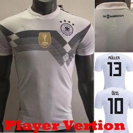 Wholesale Player Version - 2018 Player Version Germany Kroos World Cup 2019 Soccer jerseys 18 19 Germany Fans Model DRAXLER OZIL REUS GOTZE WERNER Football Shirts
