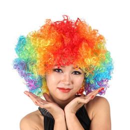 Бесплатная Доставка Вентиляторы Взрывоопасные Головы Парик Танцевальный Бар Свадебное Платье Производительность Реквизит Парик Смешные Пушистые Смешные Клоун Парик Шапки cheap clown cap от Поставщики колпачок клоуна