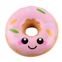 Wholesale lovely gadget - 11cm Lovely Doughnut Cream Scented Squishy Slow Rising Squeeze anti stress soft toys funny gadgets kawaii squishies oyuncak