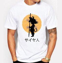 Wholesale dragon ball z cooler - New 2016 Fashion Dragon Ball Z T Shirt Cool Son Goku Cartoon Creative Printed T-shirt Men's Tee Shirts Homme Novelty Tshirt Men
