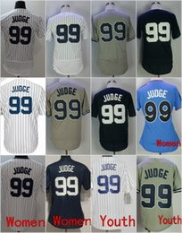 Wholesale Gold Shorts Women - 2018 New Aaron Judge Jersey Men Women Youth #99 Baseball Jerseys White Gray Navy Blue Home Away Stitched