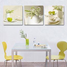 2019 billige kunstfarbe 3 Stücke Obst Küche Bilder Abstrakte schöne ölgemälde hause wandkunst günstige Modulare Bilder Wandbilder Für Wohnzimmer Y18102209 rabatt billige kunstfarbe