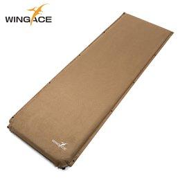 Wholesale Yoga Pad Mattress - WINGACE Outdoor Inflatable Mattress Cushion Yoga Mats Fast Filling Air Bed Moistureproof Tent Camping Mat Sleeping Pad Air Mat