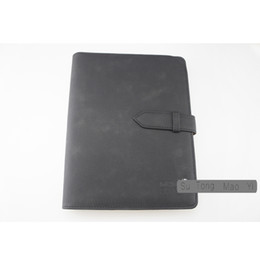 Wholesale Trendy Products - Trendy Matte black Agenda Logo Diary Office Notebook Germany Brand Notepads Handmade Personal Diary Luxury Stationery Products Leather Cover