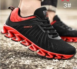Wholesale Ventilated Men Casual Shoes - Male spring tide blade runner's sport summer air - ventilated Korean fashion casual shoes.