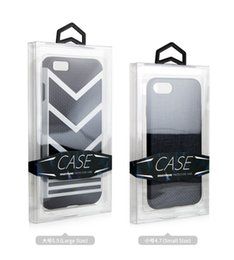 Wholesale Custom Packing Boxes - 500 pcs Plastic PVC Packaging Package Crystal Packing Custom Box For Cell phone Case for Samsung iPhone 6 with Sticker