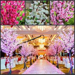 160Pcs Artificielle Cerisier Printemps Prune Peach Blossom Branch Soie Fleur Arbre Pour La Fête De Mariage Décoration blanc rouge jaune rose 5 couleur ? partir de fabricateur