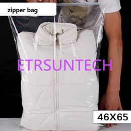giacca coperta Sconti 46 * 65 cm Grande Sacchetto di chiusura lampo di plastica trasparente trapunta cuscino coperta biancheria da imballaggio sacchetto giacca cappotto sacchetto di immagazzinaggio dell'imballaggio QW7713