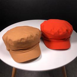 HT1806 Femmes Hommes Casquette De Bûcheron Solide Uni Plat Haut Bérets Noir Rouge Duckbill Cap Coton Chapeaux pour Hommes Femmes Unisexe Béret Cap ? partir de fabricateur