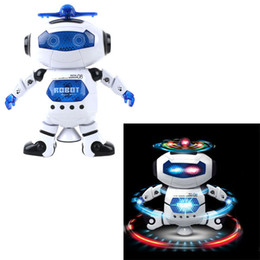 Wholesale Amazing Birthday - Amazing 360 Rotating Smart Space Dance Robot Electronic Walking Toys With Music Light For Kids Astronaut Toy Birthday Gift