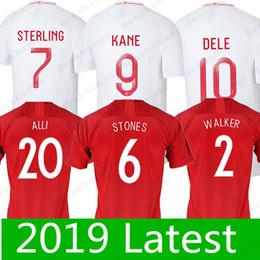 2ea822d01a5 2018 World Cup 7 STERLING 9 KANE 10 DELE 22 RASHFORD 18 WILSHERE 11 VARDY 8  LALLANA 15 STURRIDGE Soccer Jerseys