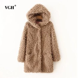 Wholesale Wool Baby Dress - VGH Suit-dress Autumn And Winter European Wind New Pattern Even Hat Cap Imitate Lamb Wool Coat Long Fund Baby Loose Coat A4528