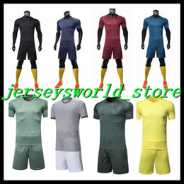 Wholesale Orange Team Names - CQ&31*New 2017 2018 football clothes, blank soccer suit, adult jersey all kinds of jersey, no logo and team logo print name and number