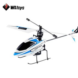 Wholesale V911 Rc - Original WLtoys V911 RC Helicopter 2.4G 4CH Drone Toy Remote Control Drones Flying Toy Helicoptero Aircraft Kid Drone Dron Gifts