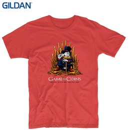 389a94798 Wholesale discount Tops Tees Men 100% Cotton Game Of Coins Scrooge Mcduck  Of Ducktales Mens & Womens Cool T Shirt Sex Si Tee